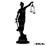 DXF139 - Lady Justice Silhouette CNC DXF File Download