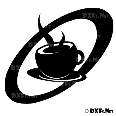 Dxf161 Coffee Silhouette Cnc Dxf File Download on log home design free download
