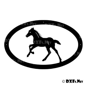 DXF197 - Trotting Colt Design for CNC Cutting