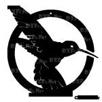 DXF201 - Hummingbird Circle Design for CNC Cutting