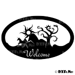 DXF205 - Unicorn Welcome Sign Design for CNC Cutting