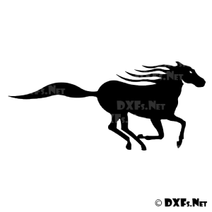 DXF208 - Running Horse Design for CNC Cutting