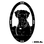 DXF213 - Dog Bust Pet with Bones Design for CNC Cutting