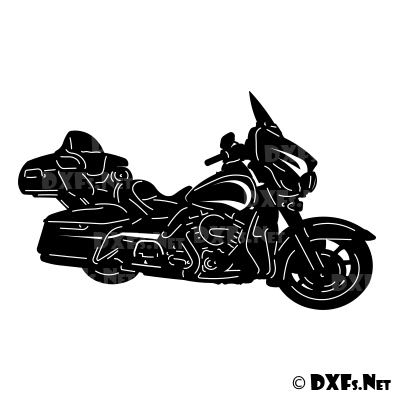 DXF214 - Harley Davidson Motorcycle Design for CNC Cutting