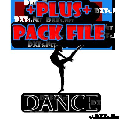 DXF291-P – Ballet Dancer Dance Sign Design for CNC Cutting
