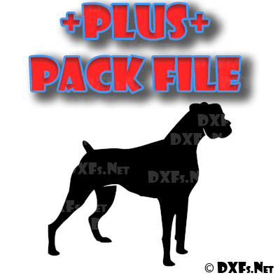 DXF298-P – Standing Boxer Dog Silhouette Design for CNC Cutting